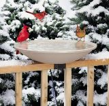 Deck-Mounted Heated Bird Bath Made in USA