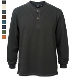 Open Bottom LS Henley Made in USA