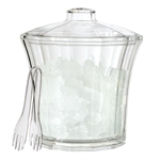 American Made Acrylic Ice Bucket with Tongs