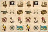 Memory Tiles Made in USA, Pirates