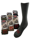 Men's Best Quality Boot Sock Made in America - 2 Pairs