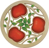 Solace Trivet American Made, Printed Apples