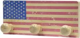 American Made Wall Rack - Flag Made by Maple Landmark