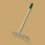 "Bully Tools 7"" Level Head Hand Rake Made in USA"