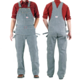 Double Knee Denim Stripe Carpenter American Made Overalls