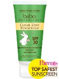 30 SPF Clear Zinc Sunscreen Lotion Made in USA