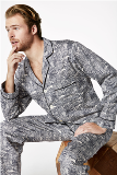 "BedHead Pajamas Black & White Wonders of the World Cotton  Men's Cotton PJ Made in America -<FONT FACE=""Times New Roman"" SIZE=""+1"" COLOR=""#FF0000""> On Sale Now! </font>-"
