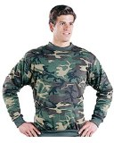 Long Sleeve Camouflage Sweatshirt Made in America