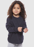 Set of 2 Unisex Toddler & Small Child's Long Sleeve Crew Tee Made in America