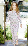 BedHead Pink Barn Owl Stretch Kids Snug American Made PJ
