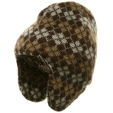 Mohair Argyle Peruvian Helmet For Women - Made in USA