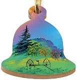 Maple Landmark Handpainted Ornaments - Bell
