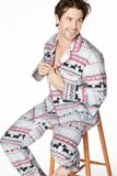 "Men's Scottie Fair Isle Flannel L/S Classic PJ -<FONT FACE=""Times New Roman"" SIZE=""+1"" COLOR=""#FF0000""> On Sale Now! </font>-"