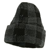 Buffalo Plaid Cuff Beanie Hat American Made
