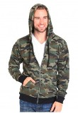 Made in USA Unisex Camo Fleece Zip Hoody