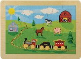 American Made Puzzle Countryside Railroad Made in America by Maple Landmark