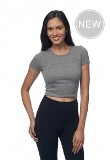 Women's eco Triblend Crop Tee American Made