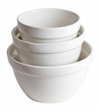 Classic White Three-Piece Mixing Bowl Set  Made in USA