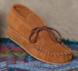 Footskins Women's Double Sole Ankle Moccasin -Made in America
