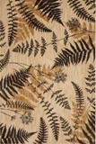Heritage Blue Ridge Ferns Light Camel Area Rug Made in America