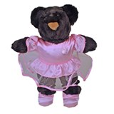 Ballerina Bear Stuffed Animal Made in USA