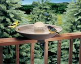 Deck-Mounted Bird Bath Made in America