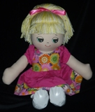 Brittany Rag Doll with Choice of Dress  American Made