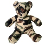 Camouflage Fleece Bear Made in America