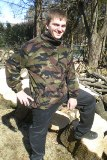 Big & Tall Arctic Fleece Camo Full Zipper Highneck Jacket Made in USA