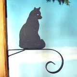 Sitting Cat Bracket Plant/Windbell Hanger Made in America