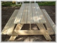 6ft Adult Picnic Table - Made in America
