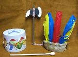 Toy Drum Sets, Peace Pipes, Teepees & Totem Poles