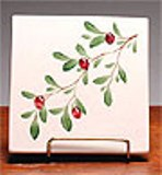 Ceramic Trivet Made in USA - Cranberry