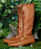 Men's Deertan Knee High Boots - American Made by Footskins