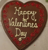 Valentine's Chocolate Heart Shaped Pizza American Made