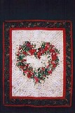Watercolor Christmas Heart American Made Quilt