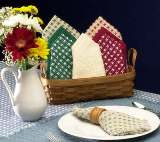 "Hand Loomed Homespun Napkins - 14"" x14"" - American Made"