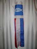 Jesus Fish Windsock Made in USA