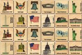 Memory Tiles Made in USA, American Icons