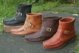 Men's Buckle Pull-on Boots Made in USA by Footwear by Footskins