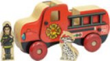 Maple Landmark Mighty Drivers, Fire Truck Toy Made in USA