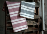 Multi Stripe Cotton Bed Blanket American Made by Amana