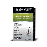 Nu Hair DHT Blocker Hair Regrowth Support Formula Tablets Made in USA, 60 Count Bottle