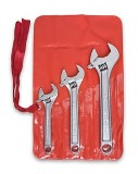 "Crescent Chrome Finish Adjustable 3 pc Wrench Set - 6"", 8"" and 10"" Made in USA"