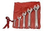 "Crescent Chrome Finish Adjustable Wrench 5 pc Set - 4"", 6"", 8"", 10"" and 12"" Made in USA"