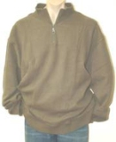 Big & Tall Arctic Fleece 1/4 Zipper Highneck Top Made in USA
