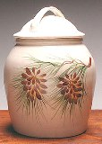 Pinecone Cookie Jar Made in USA