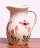 Handpainted Red Poppy Posie Pitcher