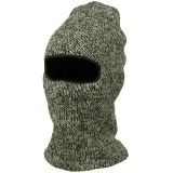 Ragg Wool Face Mask American Made - Charcoal