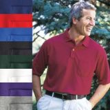 Men's Pocketed Pique Sport Shirt - Skyline - American Made